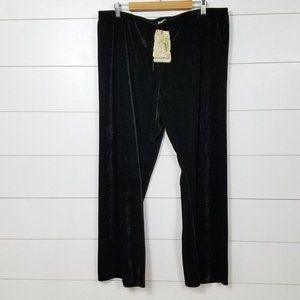 New One World Pull On Crushed Velvet Pants 2X